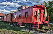 Guy Whiteley Framed Prints - Little Red Caboose Framed Print by Guy Whiteley