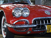 Bill Gallagher Photos - Little Red Corvette by Bill Gallagher