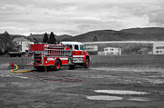 Emergency Framed Prints - Little Red Fire Truck Framed Print by Armand  Roux - Northern Point Photography