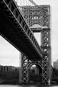 Manhatten Photo Prints - Little Red Lighthouse Beneath The George Washington Bridge Hudson River New York Nyc Print by Joe Fox