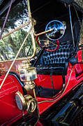 Winery Signs Posters - Little Red Model T Poster by Sharon Thompson