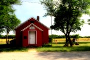 Red School House Art - Little Red School House by Kathleen Struckle