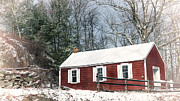 Red School House Metal Prints - Little Red Schoolhouse Metal Print by Bill  Wakeley