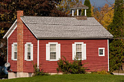 Camelot Photo Prints - Little Red Schoolhouse in Bennington Vermont Print by Robert Ford