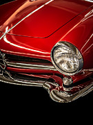 Retro Car Photos - Little red sports car by Edward Fielding