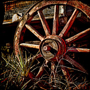 Antique Wagon Posters - Little Red Wagon Poster by Robert Albrecht