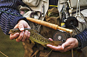 Wade Fishing Prints - Little River Brown - D001102-a Print by Daniel Dempster