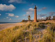 Michigan Prints - Little Sable Light Michigan Print by Steve Gadomski