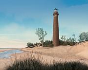 Little Sable Point Lighthouse Print by Darren Kopecky
