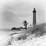 Jeff Burton Posters - Little Sable Point Lighthouse Poster by Jeff Burton