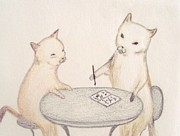 Little School Cats Print by Christine Corretti