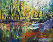Sewickley . Framed Prints - Little Sewickley Creek Framed Print by Michael Creese
