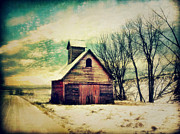 Barn Digital Art - Little Sioux Corn Crib by Julie Hamilton