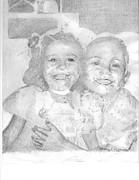 Little Sister Print by Rebecca Christine Cardenas