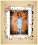 Wants Framed Prints - Little Sister Wants to go Too - Fashion Doll - Girls - Collection Framed Print by Barbara Griffin