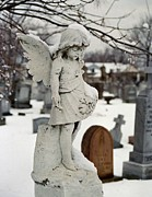 Angel Digital Art - Little Snow Angel by Gothicolors And Crows