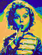 Shirley Painting Prints - Little Technicolor Soldier Print by Devan Gregori