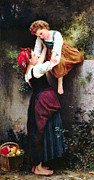 Old Masters Posters - Little Thieves Poster by William Bouguereau
