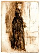 Little Velvet Dress 1860 Print by Padre Art