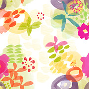 Cheerful Prints - Little Watercolor Garden Print by Linda Woods