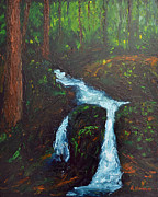 Little Waterfall Print by Burt Hanna