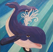 Killer Whale Paintings - Little Whale by Kelly Simpson