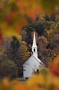 New Hampshire Posters - Little White Church - D007297 Poster by Daniel Dempster