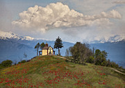 Italian Landscapes Prints - Little White Church Print by Sharon Foster
