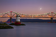 Waxing Crescent Framed Prints - Little White Lighthouse Framed Print by Eduard Moldoveanu