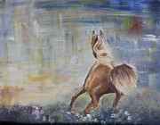Clifton Painting Posters - Little Wild Horse Painting Poster by Sandy Clifton