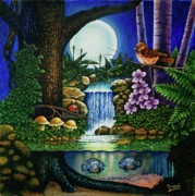 Little World Chapter Full Moon Print by Michael Frank