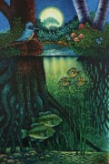 Little World Chapter Kingfisher Print by Michael Frank