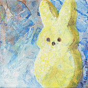 Cookie Painting Prints - Little Yellow Bunny Print by Arlissa Vaughn