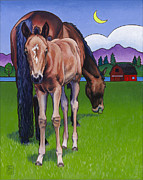 Foal Prints - Littlebit of Whidbey Print by Stacey Neumiller
