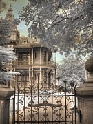 Victorian Austin Home Prints - Littlefield home Print by Jane Linders