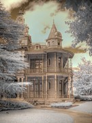 Ghostly Framed Prints - Littlefield mansion Framed Print by Jane Linders