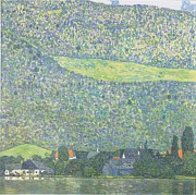 Gustav Klimt Canvas Paintings - Litzlberg on the Attersee by Gustav Klimt