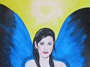 Steven Tyler  Painting Originals - Liv Tyler As A Butterfly by Jeepee Aero
