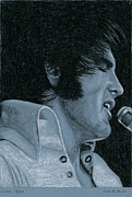 Singer Drawings - Live 1970 by Rob De Vries