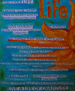 Live A Life Of Gratitude Print by Patti Schermerhorn