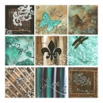 Teal Prints - Live and Love by MADART Print by Megan Duncanson