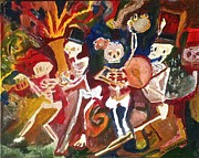 Mardi Gras Paintings - Live Jazz by James  Christiansen