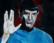 William Shatner Painting Framed Prints - Live Long And Prosper Framed Print by Jeremy Moore