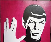 Spock Paintings - Live Long and Prosper by Trina Woods