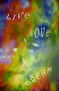 Cloud Digital Art Framed Prints - Live Love and Dream Framed Print by Veikko Suikkanen