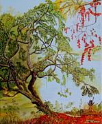 Live Oak Salt Marsh And Autumn Equals Heaven Print by Linda Moore
