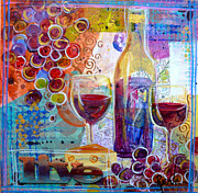 Wine Bottle Paintings - Live by Patricia Ragone