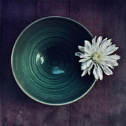Flower Still Life Metal Prints - Live Simply Metal Print by Priska Wettstein