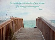 Sea Oats Framed Prints - Live the Life You Have Imagined Framed Print by Kay Pickens