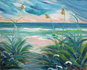 Blues Painting Originals - Lively Sea by Sherry W Thurston